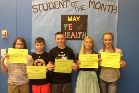 Students of the Month–PE/Health